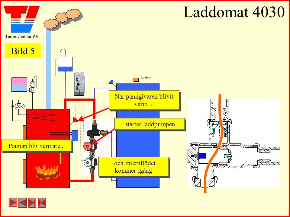 Termoventiler AB Laddomat 4030 Luftare När panngivaren blivit varm... När panngivaren blivit varm.....och internflödet kommer igång..och internflödet