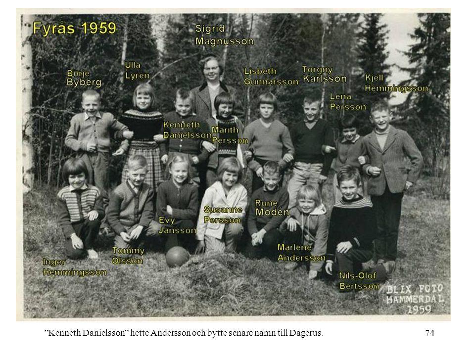 "74""Kenneth Danielsson"" hette Andersson och bytte senare namn till Dagerus."