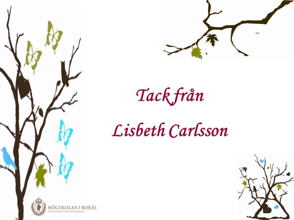 Tack från Lisbeth Carlsson