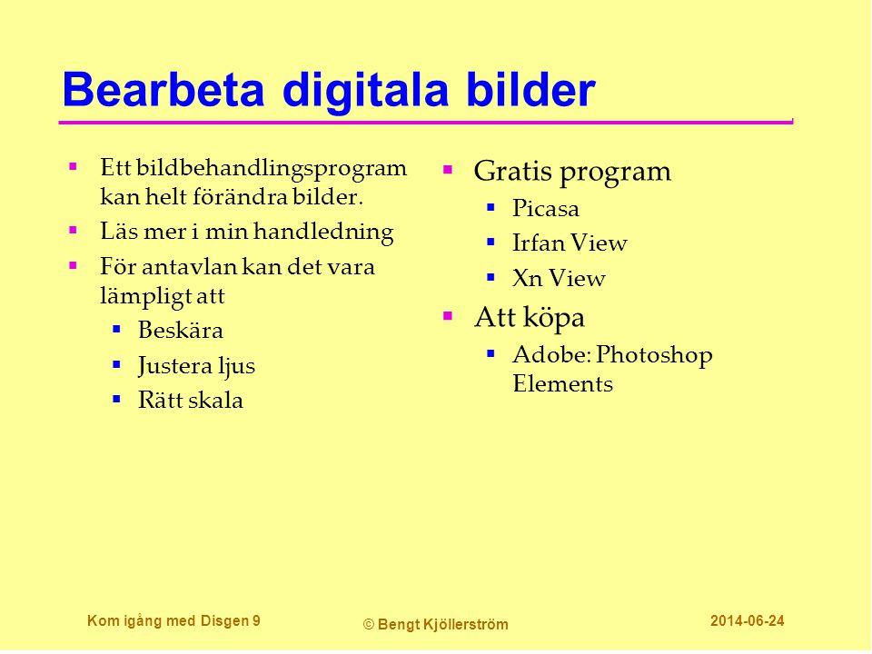 Innehållet i Disgens datamapp Dg82data Kom igång med Disgen 20 © Bengt Kjöllerström 2014-06-24  I datamappen dubbelklickar du på DgPic, för att öppna den.