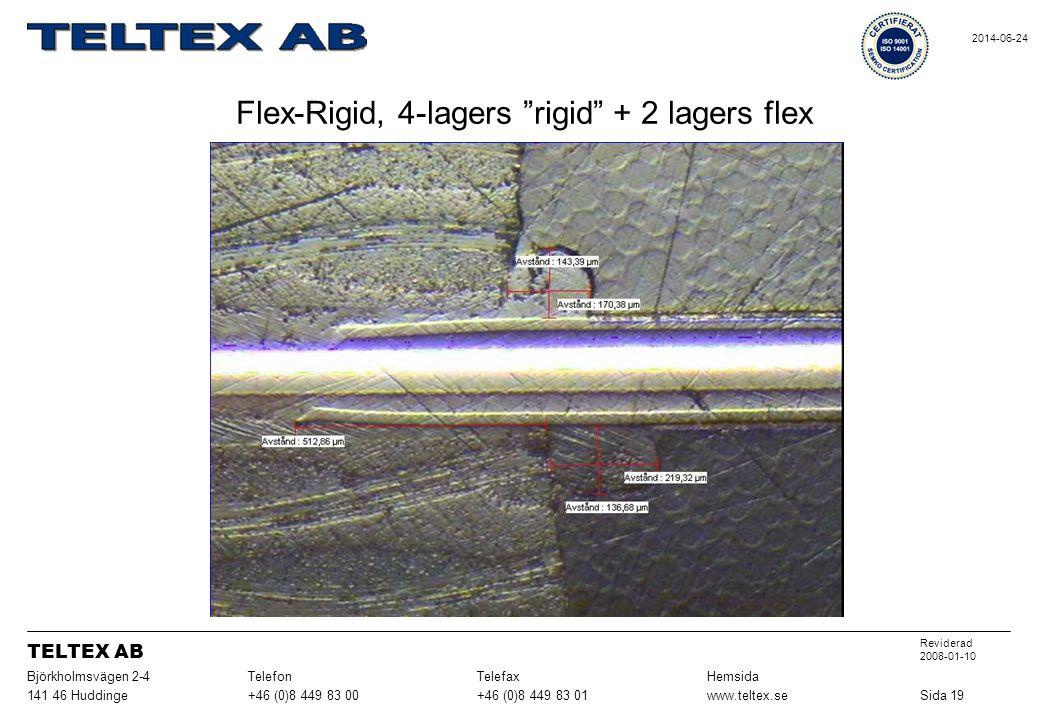 Flex-Rigid, 4-lagers rigid + 2 lagers flex Sida 19www.teltex.se+46 (0)8 449 83 01+46 (0)8 449 83 00141 46 Huddinge HemsidaTelefaxTelefonBjörkholmsvägen 2-4 Reviderad 2008-01-10 TELTEX AB 2014-06-24