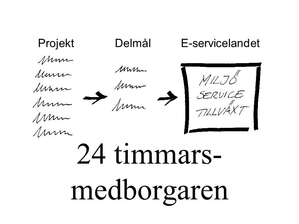 24 timmars- medborgaren Projekt Delmål E-servicelandet