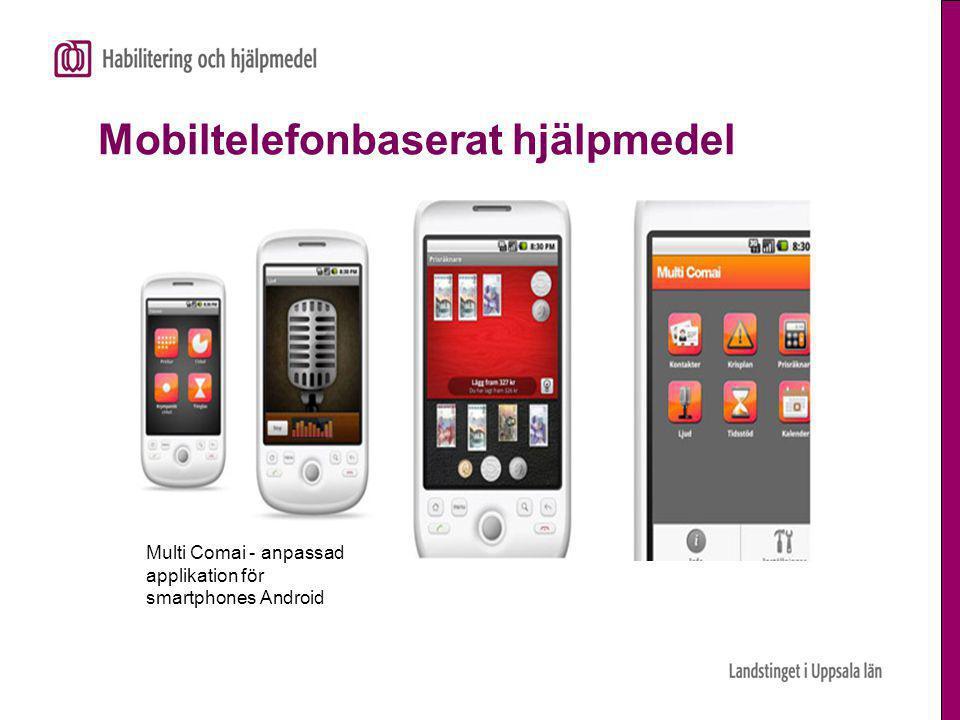 Mobiltelefonbaserat hjälpmedel Multi Comai - anpassad applikation för smartphones Android