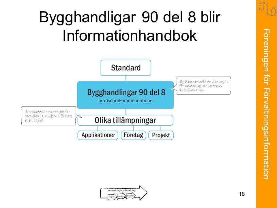 Föreningen för Förvaltningsinformation 18 Bygghandligar 90 del 8 blir Informationhandbok