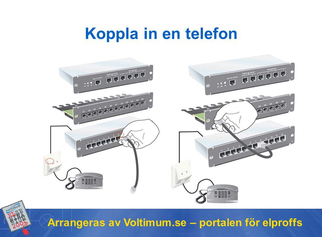 Arrangeras av Voltimum.se – portalen för elproffs Koppla in en telefon