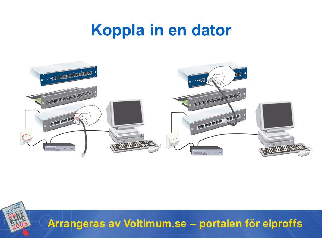 Arrangeras av Voltimum.se – portalen för elproffs Koppla in en dator