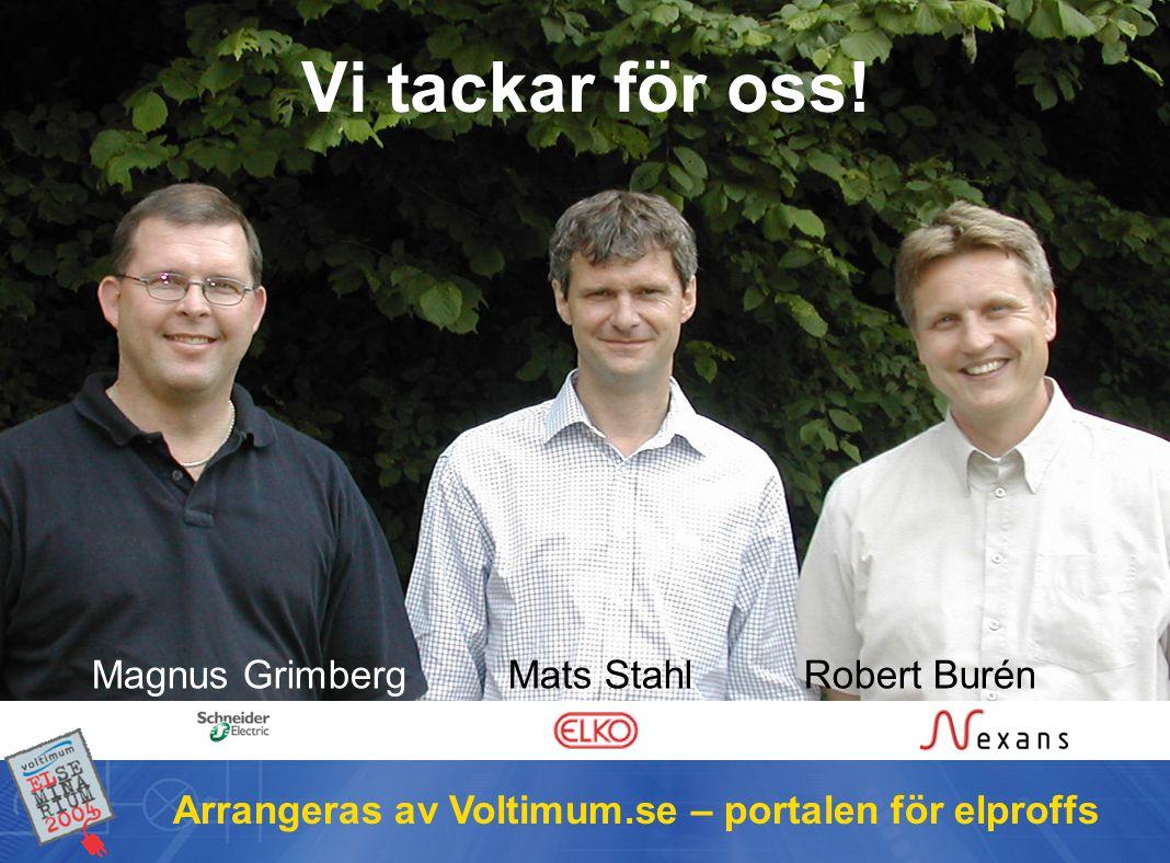 Arrangeras av Voltimum.se – portalen för elproffs Vi tackar för oss.