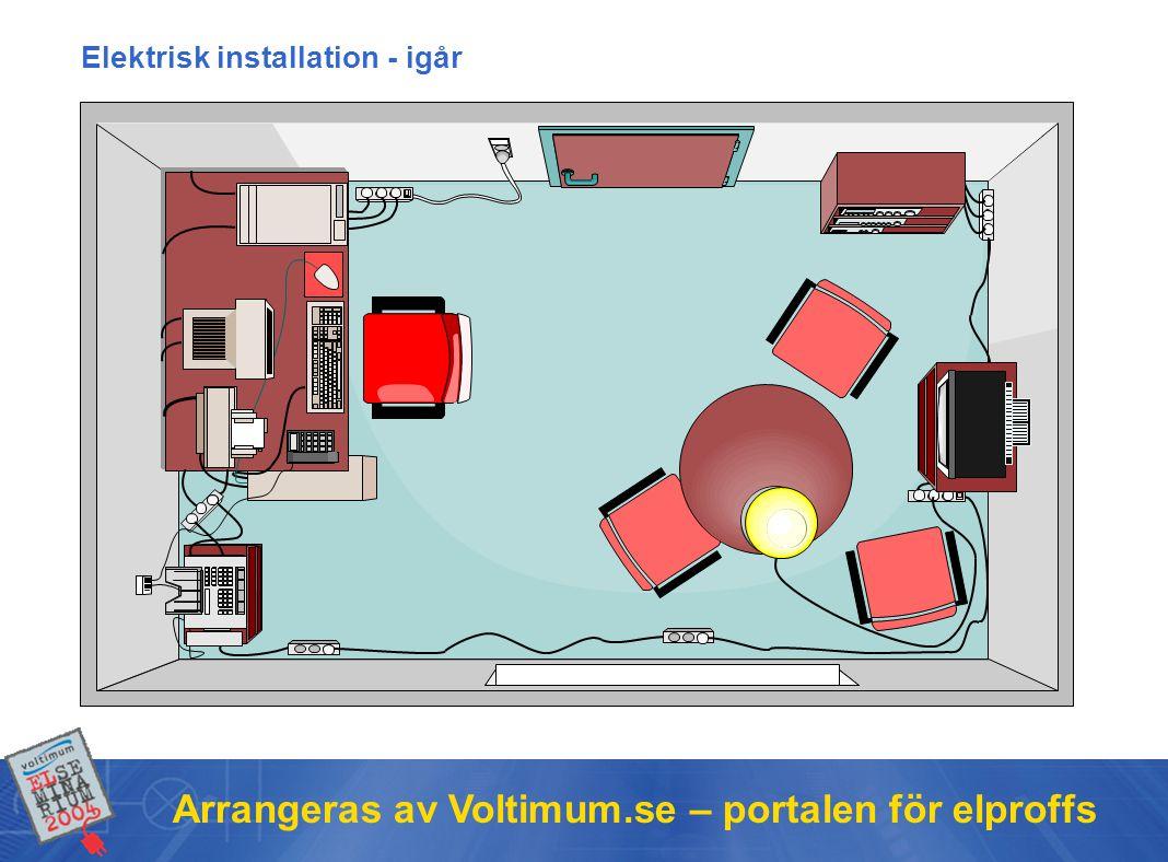 Arrangeras av Voltimum.se – portalen för elproffs Elektrisk installation - igår
