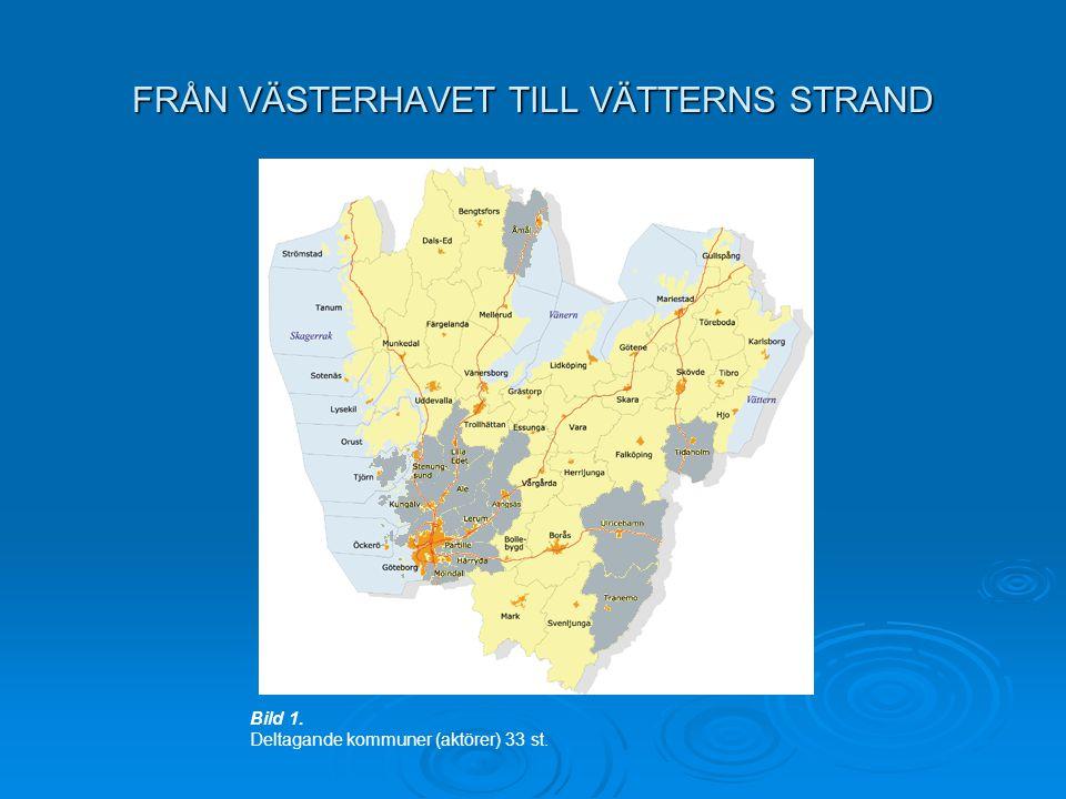 FRÅN VÄSTERHAVET TILL VÄTTERNS STRAND Bild 1. Deltagande kommuner (aktörer) 33 st.