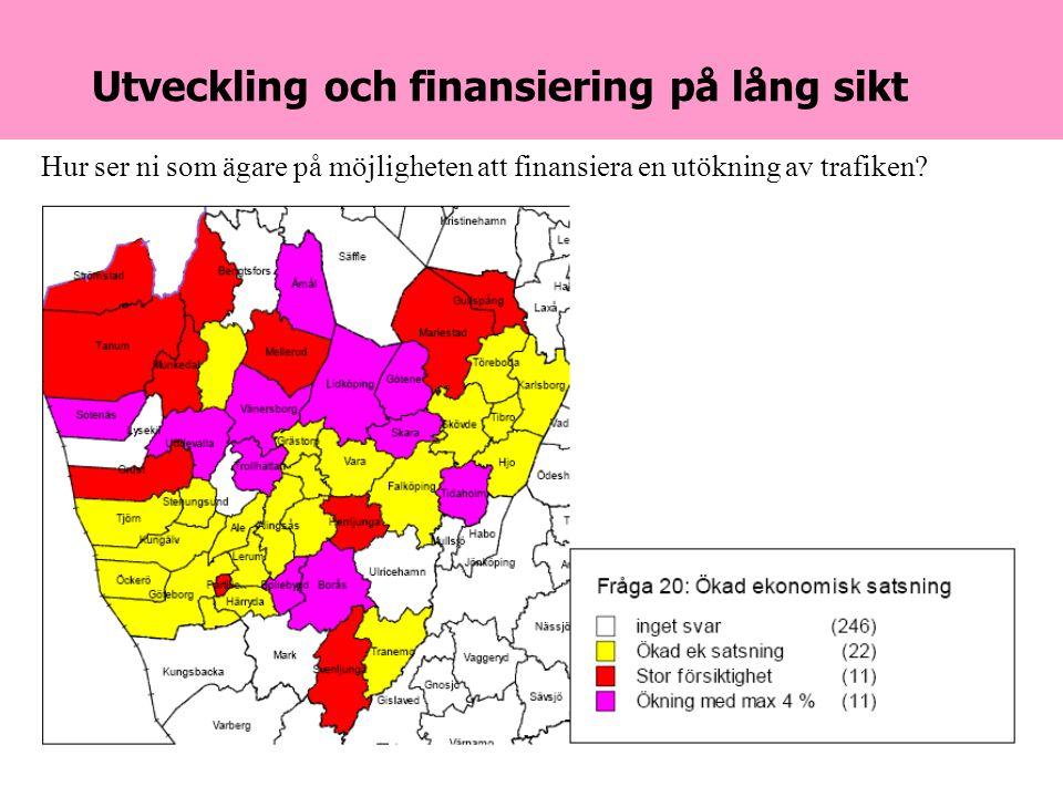 2007-04-24Danielson & Co28 Utveckling och finansiering på lång sikt Hur ser ni som ägare på möjligheten att finansiera en utökning av trafiken
