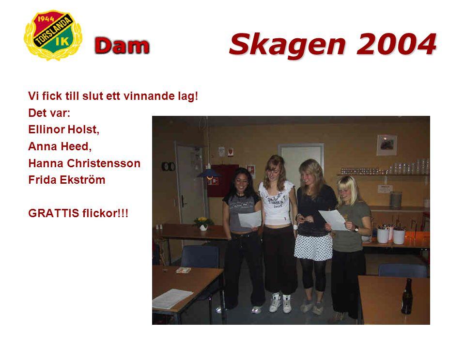 Skagen 2004 Sist men inte minst skulle varje lag hitta saker för varje bokstav i TORSLANDA IK DAM.