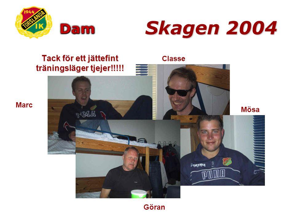 Skagen 2004 Hemfärden blev som den brukar efter ett hårt träningsläger – ganska trötta tjejer sov lite här och där och det är ett kvitto på att vi haft roligt!