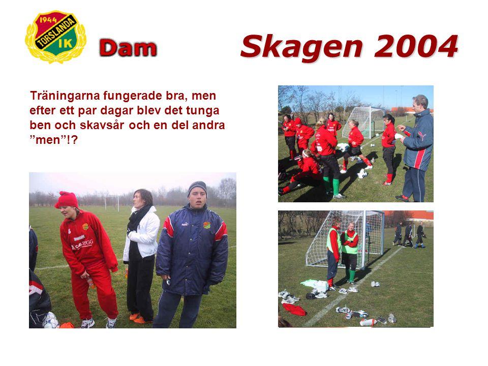 Skagen 2004 Väl framme hälsades vi välkomna av personalen på vandrarhemmet.