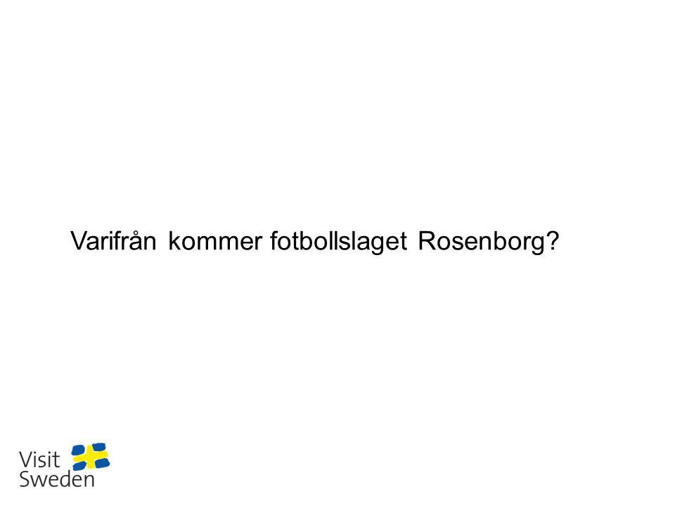 Varifrån kommer fotbollslaget Rosenborg