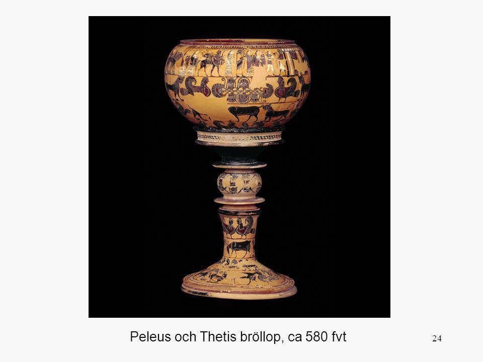 24 Peleus och Thetis bröllop, ca 580 fvt