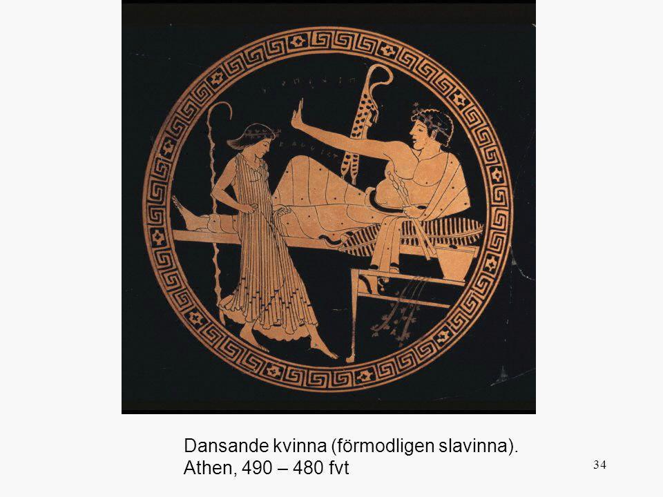 34 Dansande kvinna (förmodligen slavinna). Athen, 490 – 480 fvt