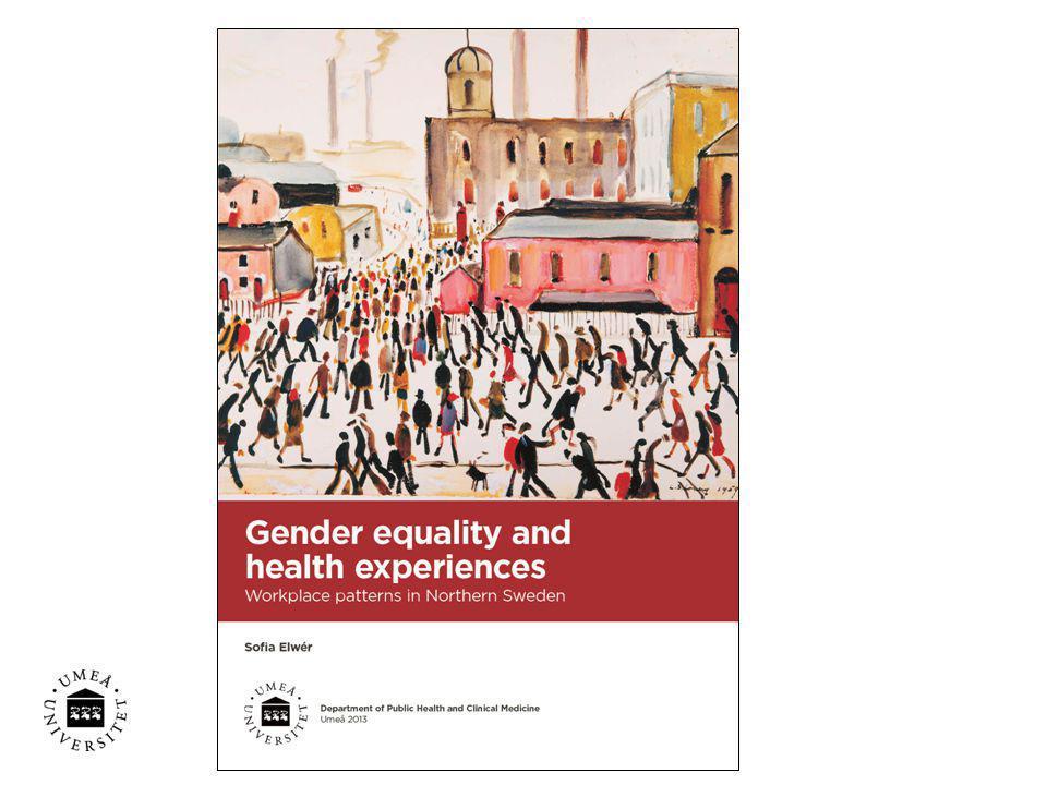 Resultat, två teman: •Hälsostressorer: Att arbeta i motvind •Hälsoresurser: Skapa mening i arbetet Hälsa och ohälsa bland anställda inom äldreomsorgen