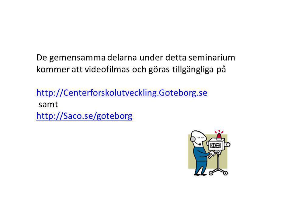 Program G ö teborg samverkar f ö r framtiden m å ndagen den 3 mars 2014 PROGRAM kl.