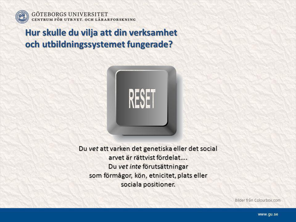 www.gu.se Mötet med högskolan  Högskolan framstår som ett främmande socialt fält att träda in i.