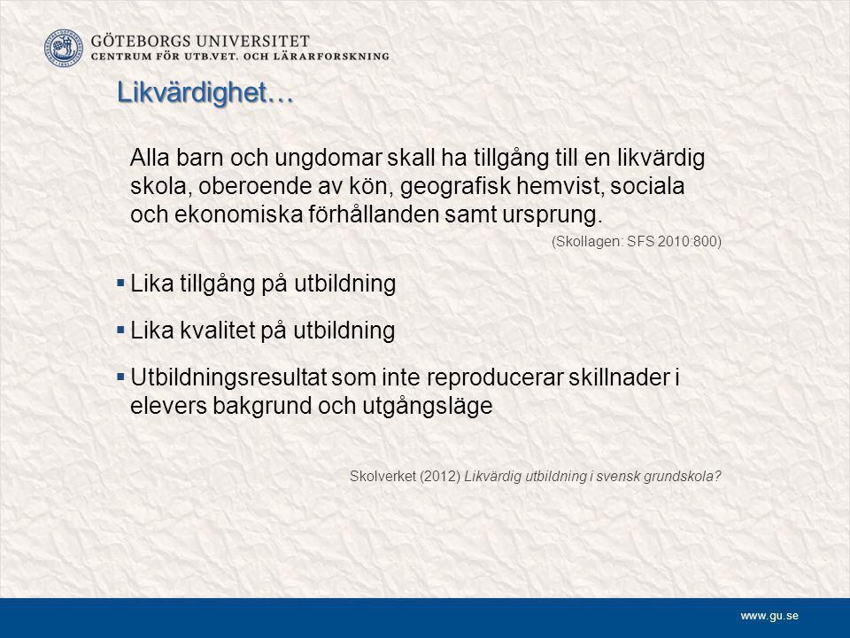 www.gu.se Varför breddad rekrytering.