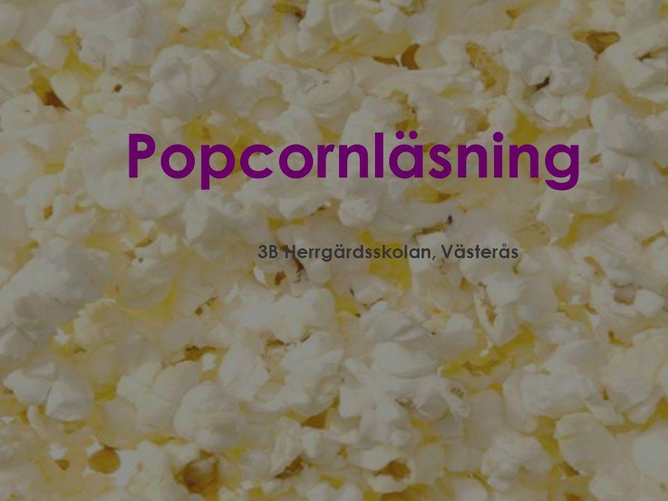 Popcornläsning 3B Herrgärdsskolan, Västerås