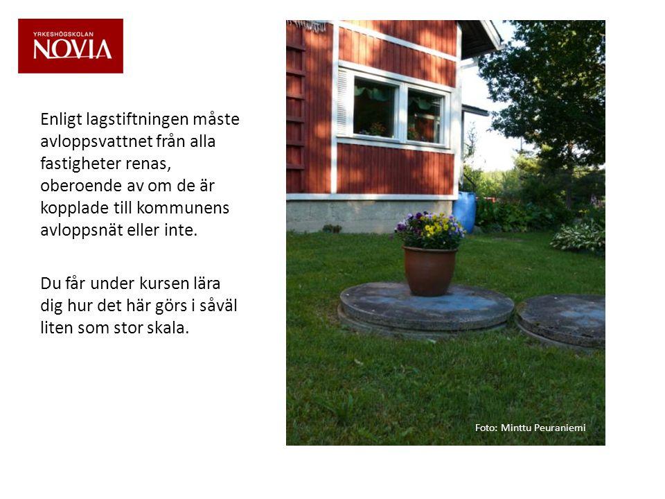 Enligt lagstiftningen måste avloppsvattnet från alla fastigheter renas, oberoende av om de är kopplade till kommunens avloppsnät eller inte.