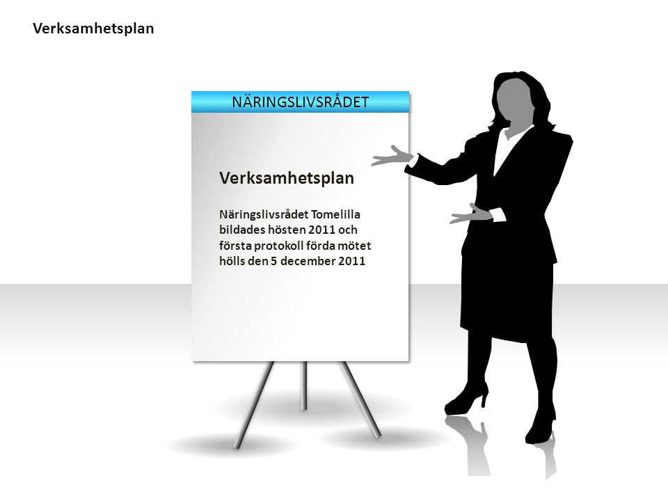 Verksamhetsplan Näringslivsrådet Tomelilla bildades hösten 2011 och första protokoll förda mötet hölls den 5 december 2011