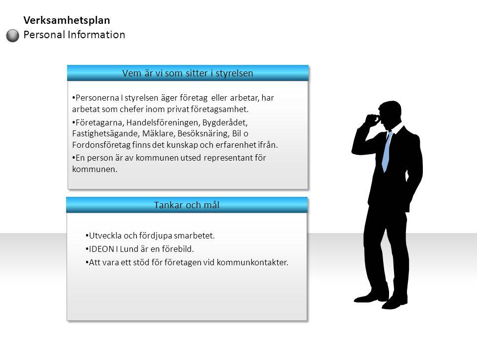 • Personerna I styrelsen äger företag eller arbetar, har arbetat som chefer inom privat företagsamhet. • Företagarna, Handelsföreningen, Bygderådet, F