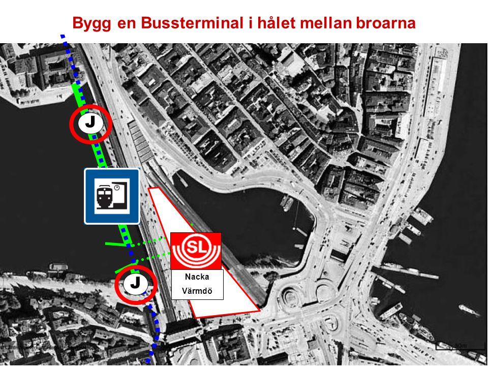 J J Nacka Värmdö Flytta Trafiken till en ny Österled och riv den gamla Slussen