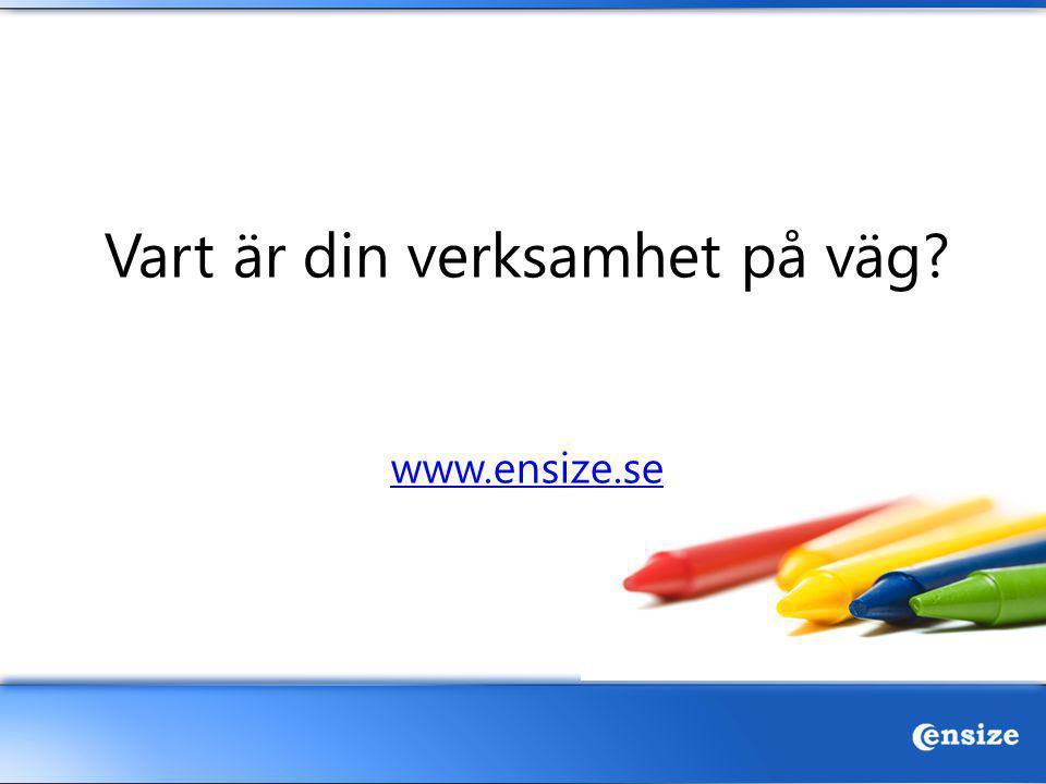 Vart är din verksamhet på väg? www.ensize.se www.ensize.se