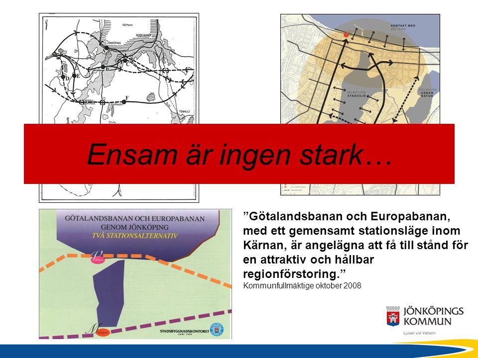 """""""Götalandsbanan och Europabanan, med ett gemensamt stationsläge inom Kärnan, är angelägna att få till stånd för en attraktiv och hållbar regionförstor"""