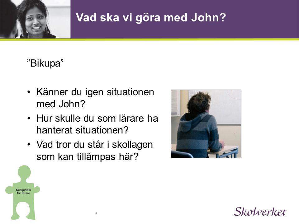 6 Vad ska vi göra med John. Bikupa •Känner du igen situationen med John.