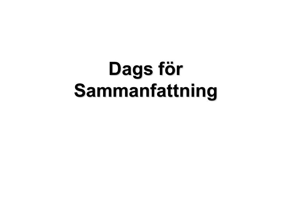 Dags för DEMO Dags för Sammanfattning