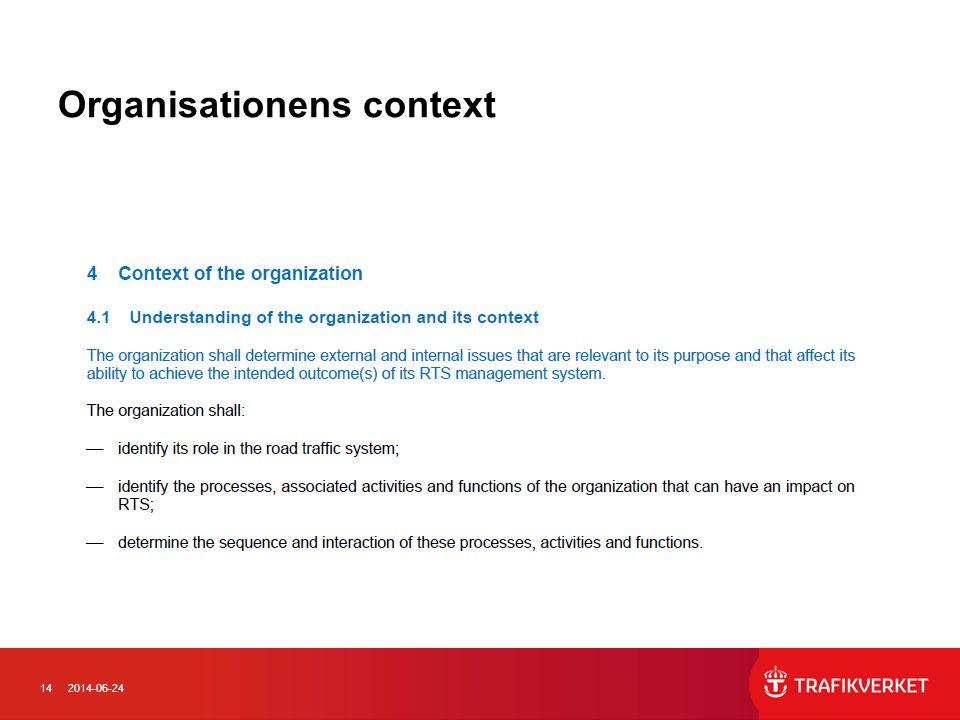 142014-06-24 Organisationens context