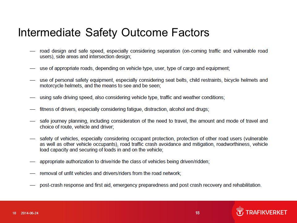 182014-06-24 18 Intermediate Safety Outcome Factors