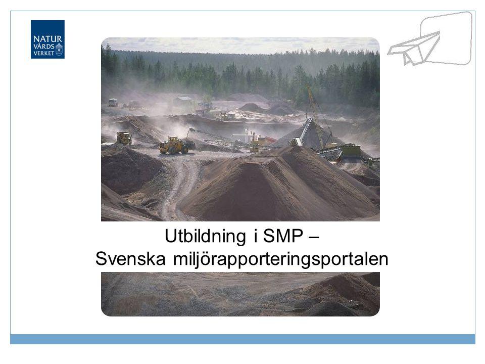 Utbildning i SMP – Svenska miljörapporteringsportalen