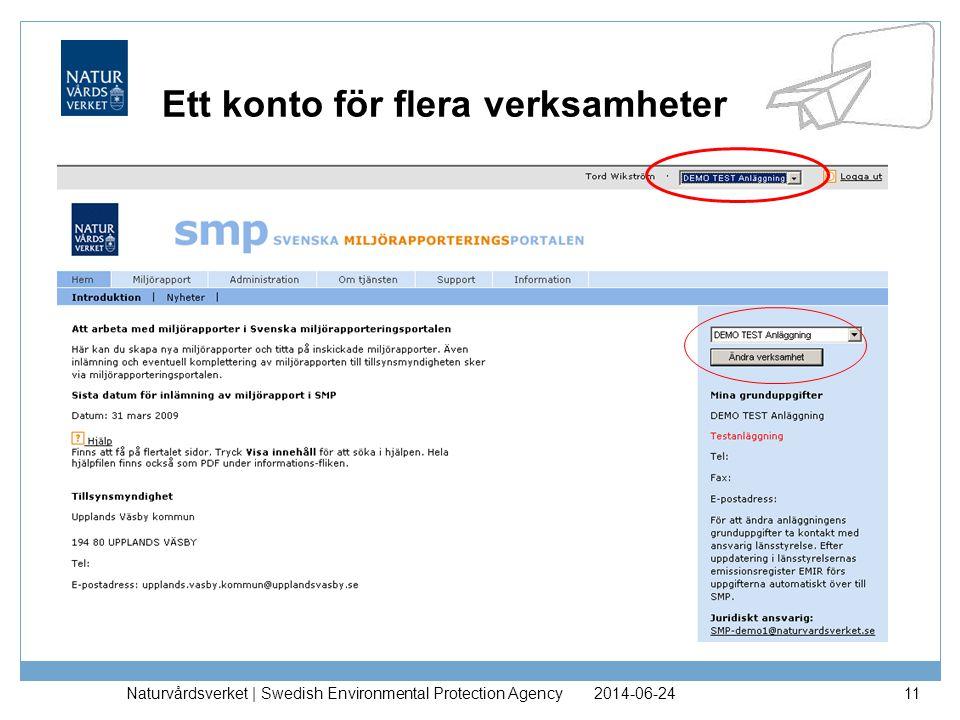 2014-06-24Naturvårdsverket | Swedish Environmental Protection Agency12 Skapa/komplettera miljörapport