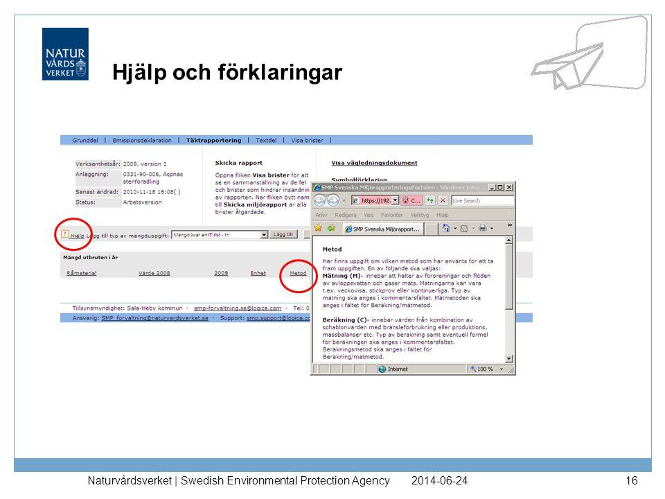2014-06-24Naturvårdsverket | Swedish Environmental Protection Agency17 Emissionsdeklaration