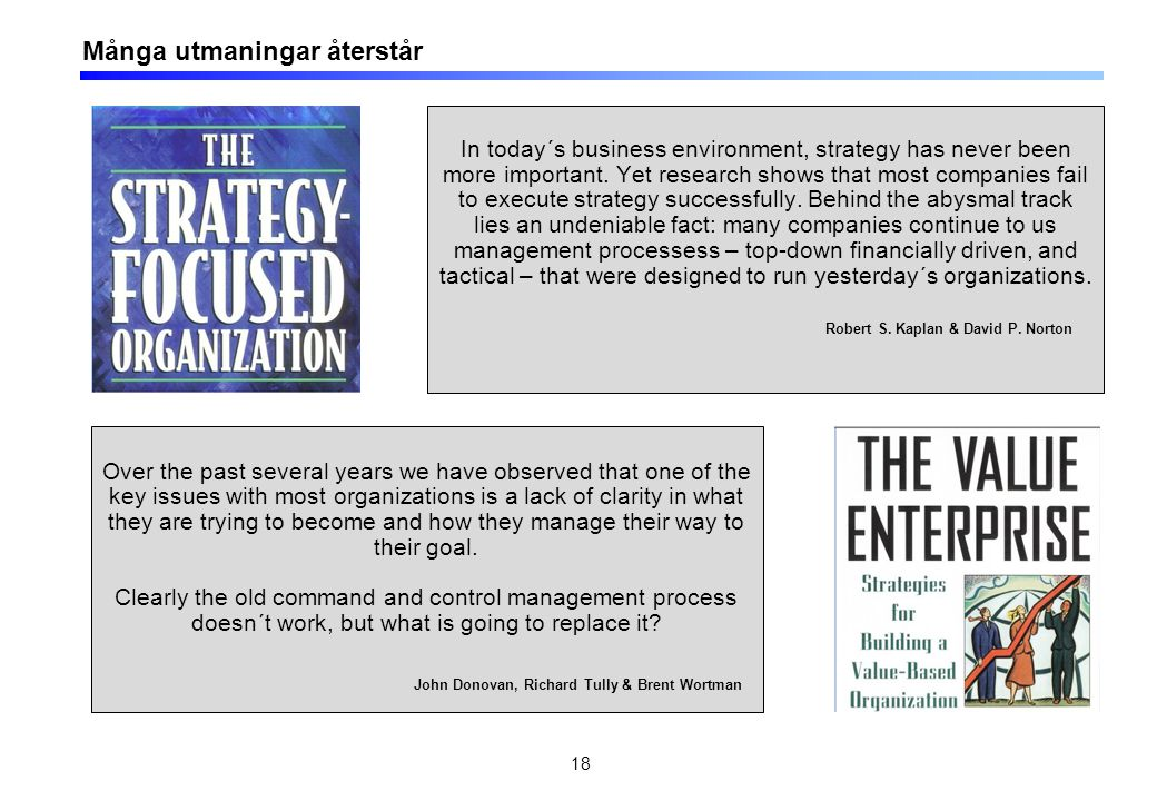 18 In today´s business environment, strategy has never been more important.
