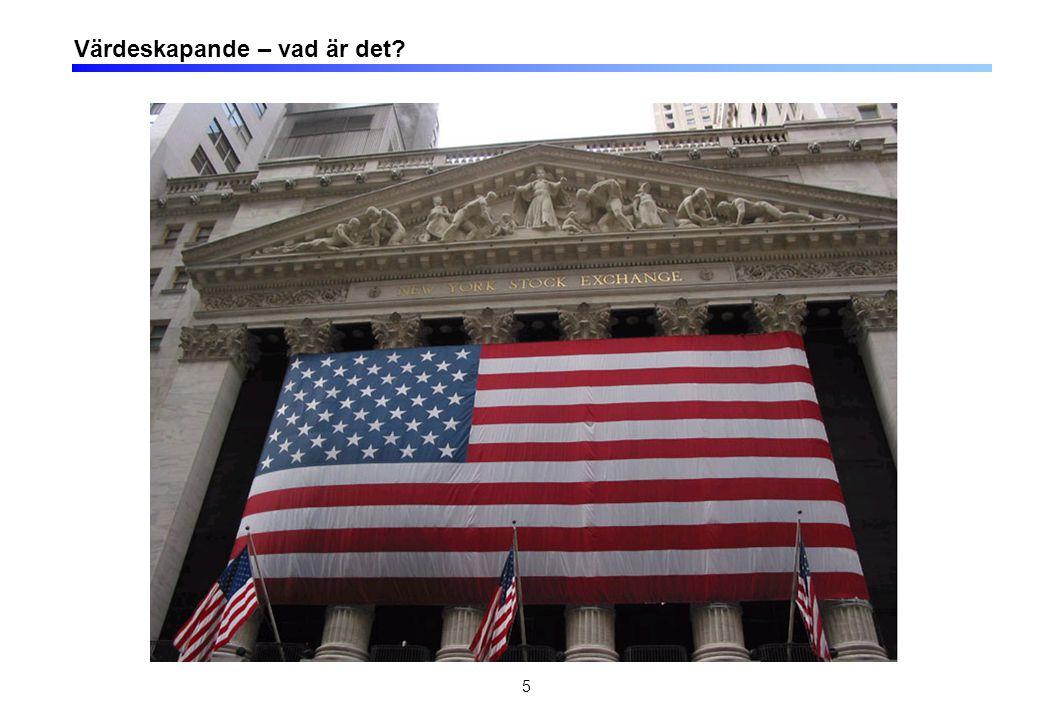 6 Värdeskapande KUNDERAKTIEÄGARE ANSTÄLLDA Värdet av produkter och tjänster Kompensation och självförverkligande TSR (Utdelning och värdestegring på aktier) Arbets- marknaden Kapital- marknaden Kommersiella marknaden Intäkter Kapital