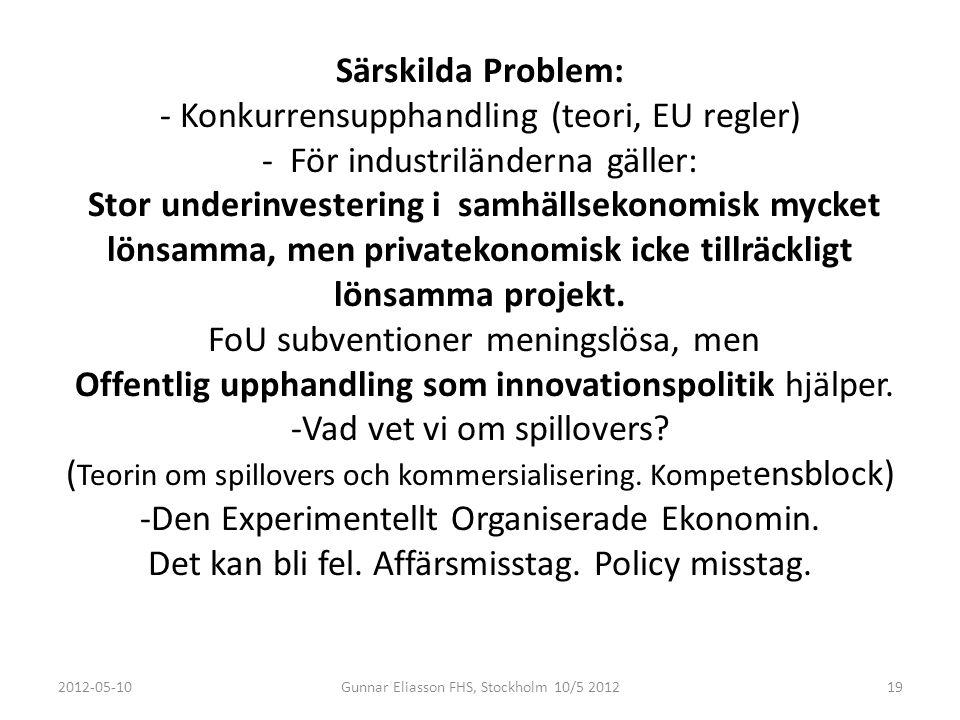 Kompetensblock teorin illustrerar hur en kompetent offentlig upphandlare (substitutkund) kan bidra till Sveriges ekonomiska utveckling Efterfrågan 1.