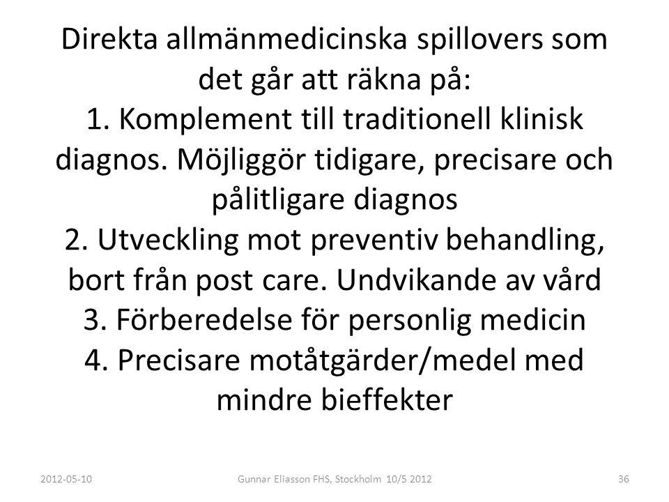 SLUTLIGEN: Jämförelse av det sociala och ekonomiska utfallet av en farlig pandemi vid användningen av 2007 års beredskap och morgondagens motteknologi baserad på vår plattform plattform Kommer om jag hinner sätta mig in i kalkylen 2012-05-10Gunnar Eliasson FHS, Stockholm 10/5 201237