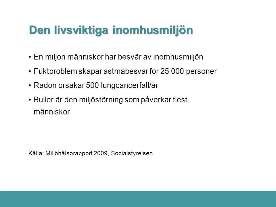 Miljöbalken reglerar hälsoskyddsarbetet Exempel på hänsynsregler m.m.