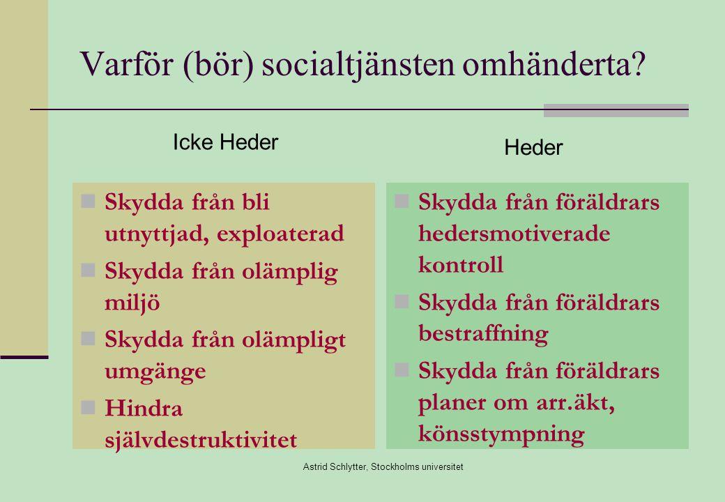 Astrid Schlytter, Stockholms universitet Varför (bör) socialtjänsten omhänderta.