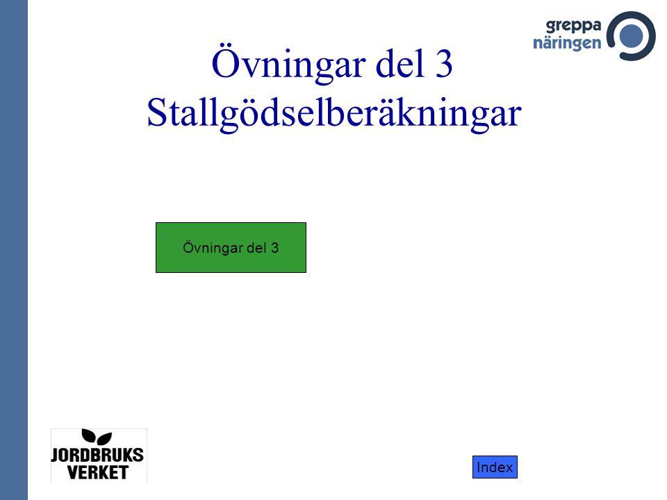 Index Övningar del 3 Stallgödselberäkningar Övningar del 3