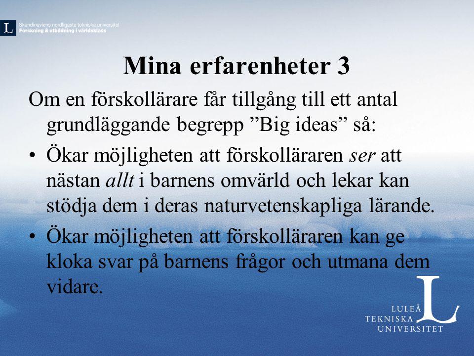 Exempel på Big ideas 1.
