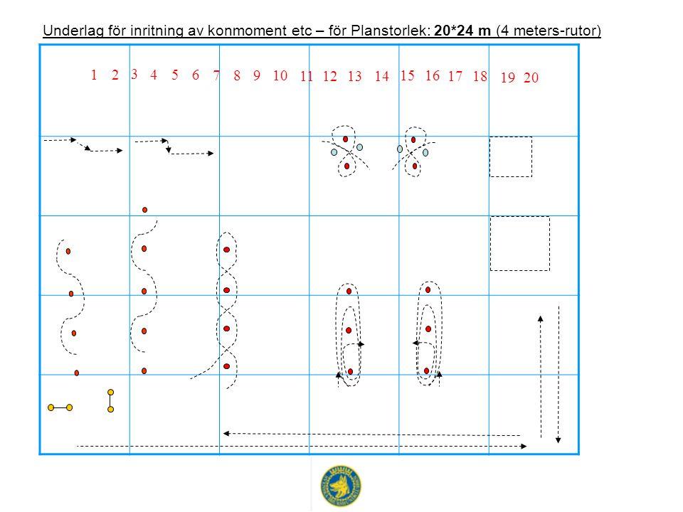 2019 1817 1615 14131211 10 9 8 7 654 3 21 Underlag för inritning av konmoment etc – för Planstorlek: 20*24 m (4 meters-rutor)