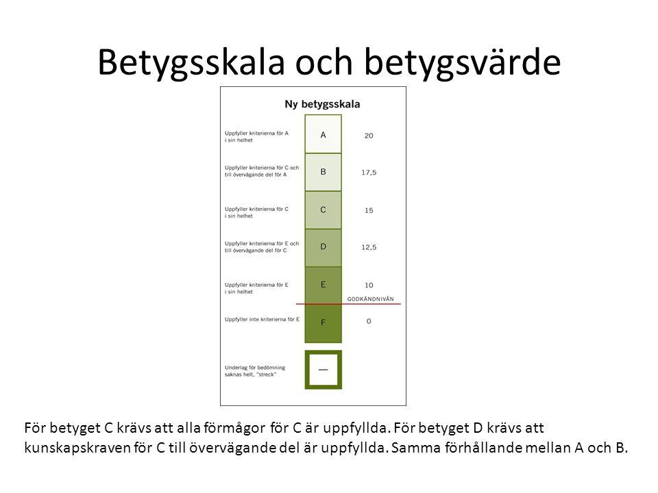 De olika betygssystemen Betygsskalan 1-5 är inte jämförbar med den nuvarande.