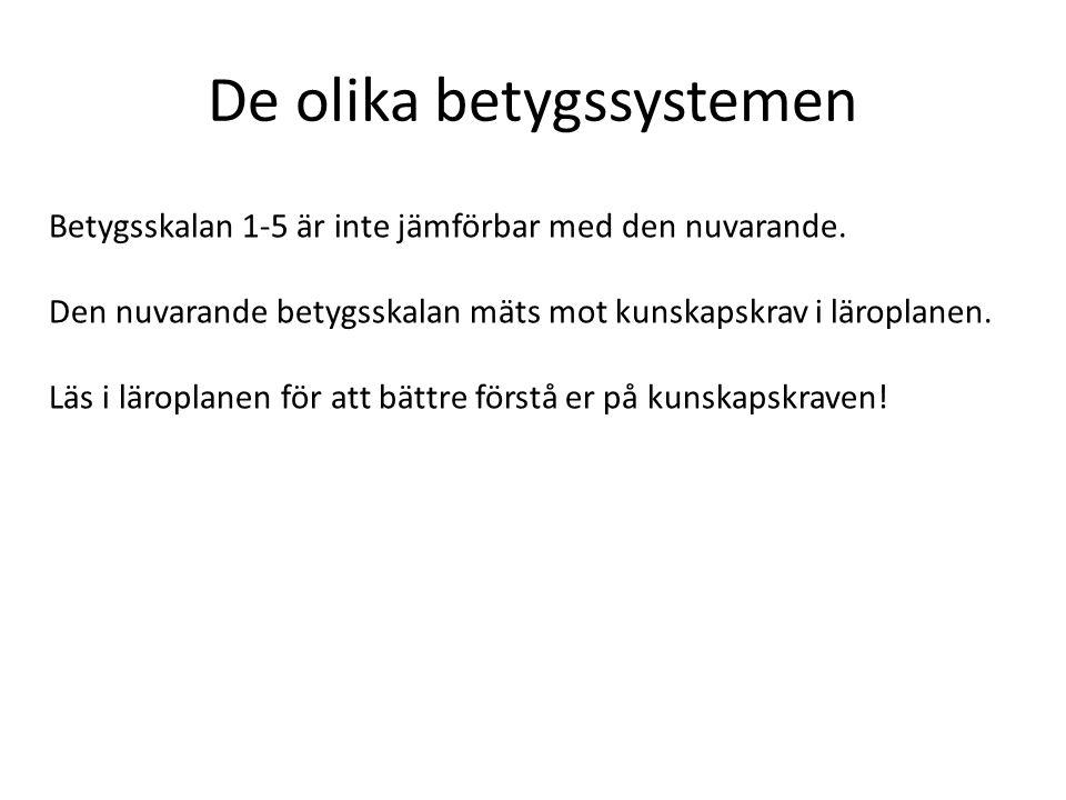 Behörighetskrav Gymnasiet Behörighet till yrkesprogram • lägst betyget E i svenska, engelska och matematik och i minst fem andra ämnen från grundskolan.