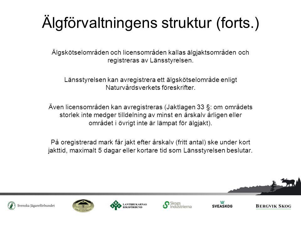 Avregistrering av älgskötselområde Enligt beslut från Länsstyrelsen.